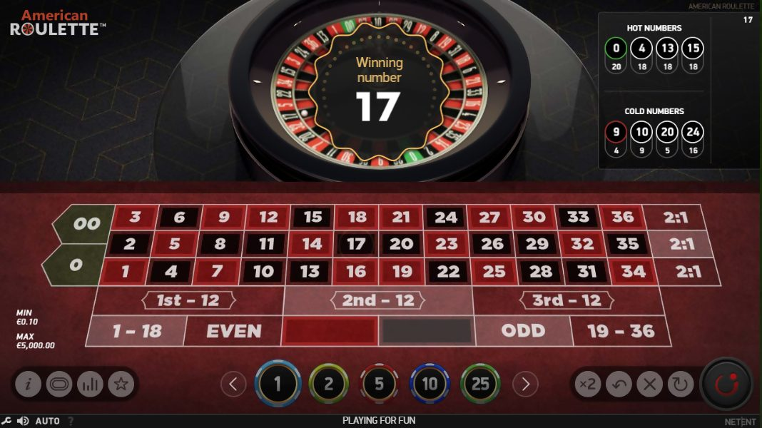 american roulette play live online layout screenshot